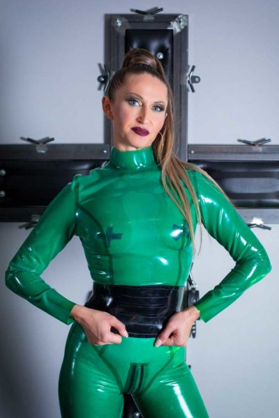 Lady Victoria Collins - green latex
